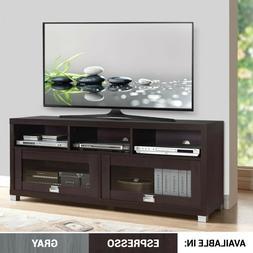 """Techni Mobili 58 Inches Durbin TV Stand For 75"""" Espresso Wit"""