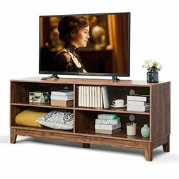 """58"""" Modern Wood TV Stand Console Storage Entertainment Media"""