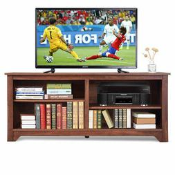"""58"""" TV Stand Entertainment Media Center Console Wood Storage"""