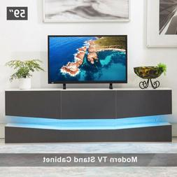 59'' Floating LED TV Stand Wall Mount Console Furniture w/ 3