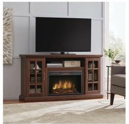 59 Inch Freestanding Infrared Electric Fireplace TV Stand in