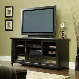 """59"""" TV Stand Black Media Console Entertainment Storage Crede"""