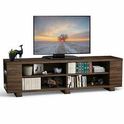 "59"" Wood TV Stand Console Storage Entertainment Media Center"