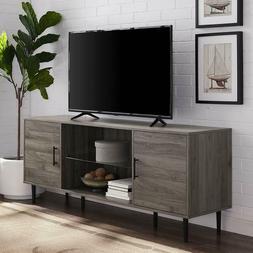 "60"" Mid Century Modern TV Stand - Slate Grey"