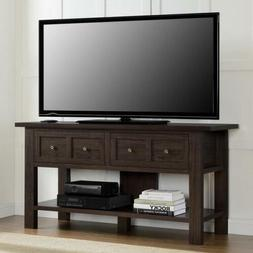 """60"""" TV Stand Console Sofa Table Rustic Apothecary Entertainm"""