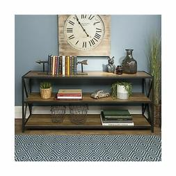 """WE Furniture 60"""" Wood Tall Entryway Table TV Stand Console 3"""