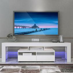 """63"""" High Gloss Black TV Stand Cabinet Console Unit Furniture"""