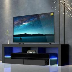"""63"""" High Gloss TV Stand Cabinet Console Unit Furniture Table"""