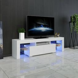 Modern High Gloss TV Stand Unit Cabinet Console w/ LED Shelv