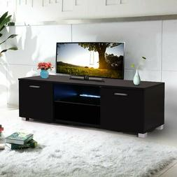 "63"" Wood High Gloss LED TV Stand Entertainment Furniture Cen"