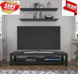 65 Inch Wood TV Stand Unit w/ Open Shelf Entertainment Cente