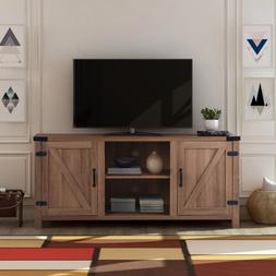 """65"""" TV Stand Entertainment Media Center Console Wood"""