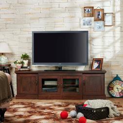 68-Inch TV Stand Deluxe Entertainment Centre Walnut Furnitur