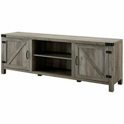 70 farmhouse barn door tv stand grey