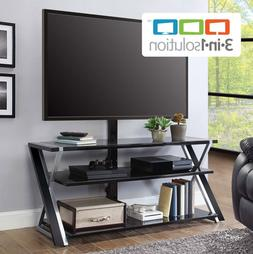 70 Inch TV Stand With Mount Media Storage Display Shelves Ve
