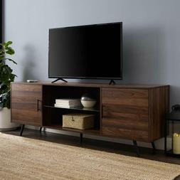 """70"""" Mid Century Modern TV Stand - Dark Walnut"""