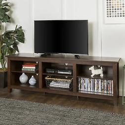 "Walker Edison 70"" Wood Media TV Stand Storage Console - Trad"