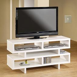 Coaster Home Furnishings TV Console with 5 Open Storage Comp