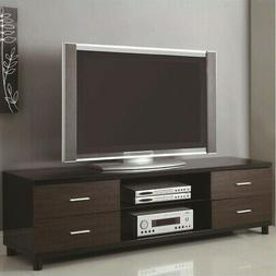 Coaster Contemporary Two-Tone TV Console with 2 Shelves