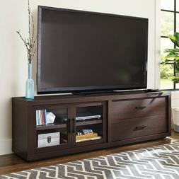 TV Stand Entertainment Center Media Cabinet 2 Drawers Two Gl