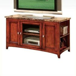 Acme 91000 Finely Faux Marble Top TV Stand, Cherry Finish