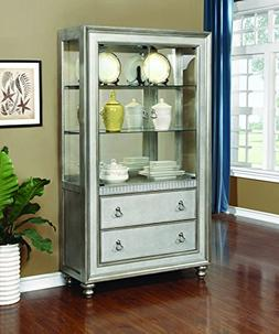 Coaster Home Furnishings Bling Game 2-Drawer Curio Cabinet M