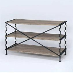 ACME Furniture 91224 Jodie TV Stand, Rustic Oak & Antique Bl