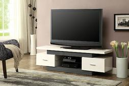 Acme Furniture 91302 Vicente TV Stand, White & Gray