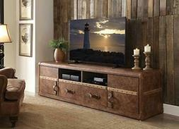 ACME Furniture 91500 Aberdeen TV St Stand, Vintage Dark Brow