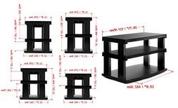 Aleratec 3-Tier LCD | LED TV Swivel Stand Entertainment Rack