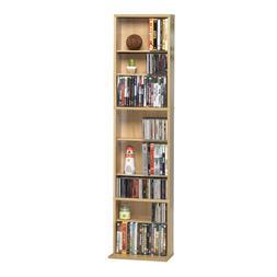 Atlantic Oskar Adjustable Media Cabinet - Holds 261 CDs, 114