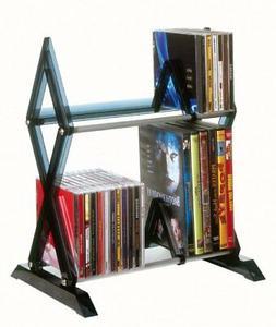 Atlantic Mitsu 2-Tier Media Rack - 130 CD or 90 DVD/BluRay/G