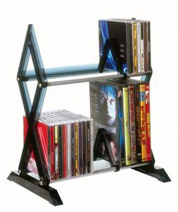 Atlantic Mitsu 2-Tier Media Rack - 130 CD or 90 DVD/BluRay/G