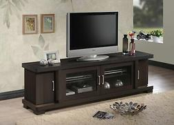 Baxton Studio Wholesale Interiors Viveka Dark Brown Wood TV