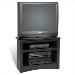 "Black 32"" Corner TV Stand for Flat Screen or CRT TVs"