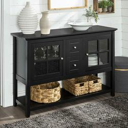 Black Console Table For Entryway TV Media Stand Narrow Small