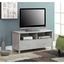 Convenience Concepts Designs-2-Go Westport TV Stand, Silver