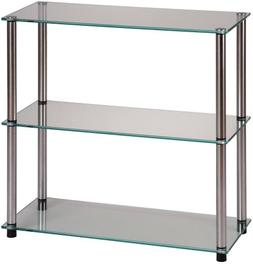 Convenience Concepts Designs2Go Go-Accsense 3-Shelf Glass Bo