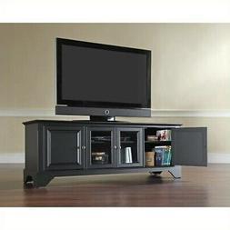 Crosley Furniture LaFayette 60-Inch Low Profile TV Stand, Bl