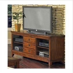 Davenport Hardwood & Veneer Cherry TV Stand with Slate Inlay