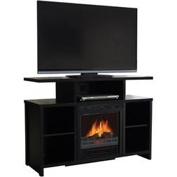 "Decor Flame Media Electric Fireplace for TVs up to 50"", Blac"