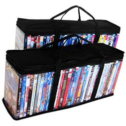Evelots Portable DVD Blu-Ray-Video Games- Storage Bags-See T