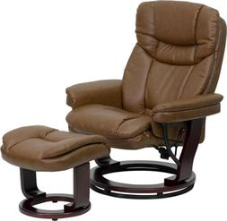 Flash Furniture Contemporary Palimino Leather Recliner and O