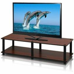 Furinno 11175DC/BK Just No Tools Dark Cherry Wide Television