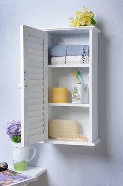 Homecharm Intl 13.8x5.9x21.6 Inch Wall Storage Cabinet,Louve