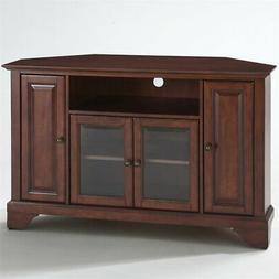"LaFayette 48"" Corner TV Stand Vintage Mahogany"