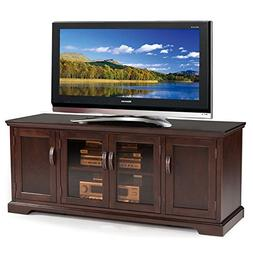 """Leick Furniture Chocolate Cherry and Bronze Glass 60"""" W TV S"""