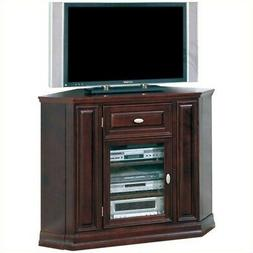 """Leick Home Riley Holliday 46"""" Corner TV Stand, Chocolate Che"""