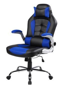 Merax High-back Ergonomic Pu Swivel Chair Computer Desk Lumb