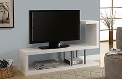 Monarch Hollow-Core TV Stand, 60-Inch, White